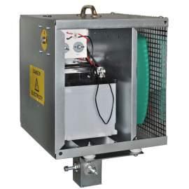 Áram alá helyezhető fém akkumulátor doboz lábbal