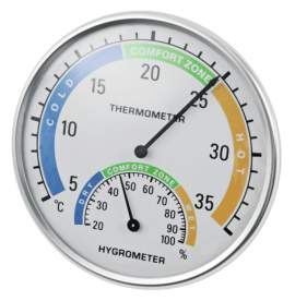 Hőmérő és páratartalom mérő (hygrométer)