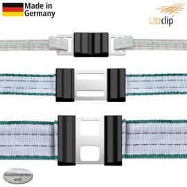 Litzclip villanypásztor szalag összekötő