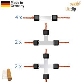 Litzclip villanypásztor háló javító készlet