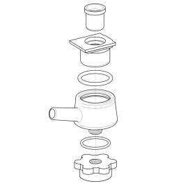 Pulzátor adapter (rögzítő gyűrűvel)