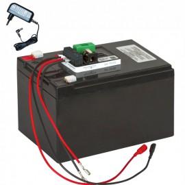 Tölthető AGM akkumulátor szett töltővel (12 V)